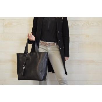 sac cuir femme noir REF ISCO1NPC