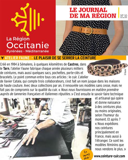 Atelier Faune dans le Magazine de la région Occitanie